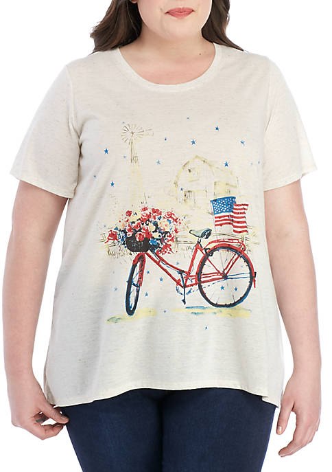 Kim Rogers® Plus Size Art Tee with Bike