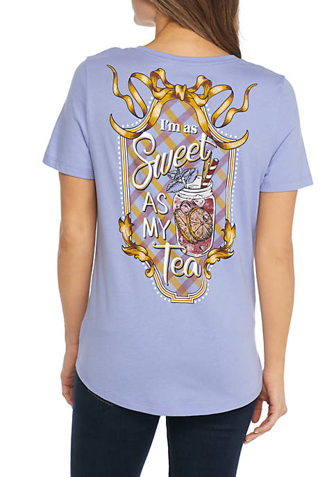 Kim Rogers® Short Sleeve Sweet As Tea Tee