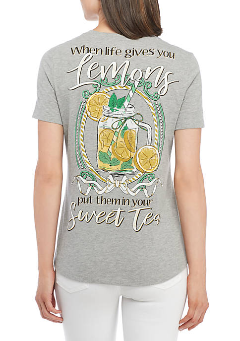 Kim Rogers® Short Sleeve Lemon Tea Tee Shirt