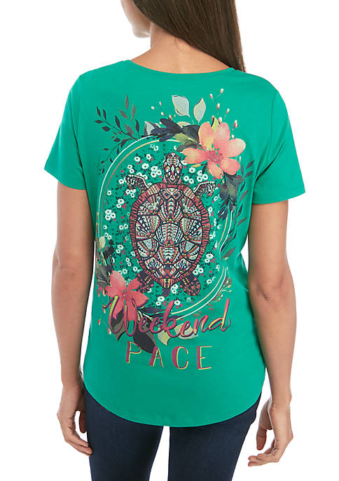 Kim Rogers® Short Sleeve Weekend Pace Graphic T