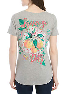 Kim Rogers® Short Sleeve Squeeze of the Day T Shirt