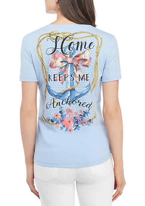 Kim Rogers® Short Sleeve Anchor Tee Shirt