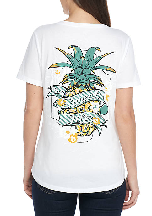 Kim Rogers® Short Sleeve PIneapple Sweet Life Tee