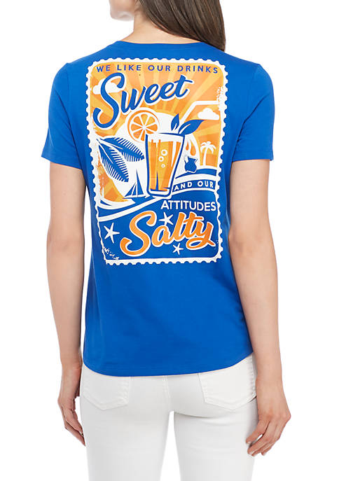 Kim Rogers® Short Sleeve Sweet Salty Tee