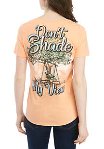 Kim Rogers® Short Sleeve Don't Shade My View Graphic Tee