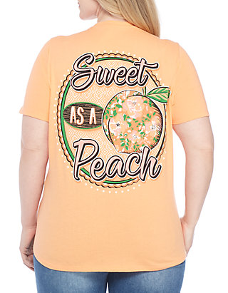 d229e148f Kim Rogers®. Kim Rogers® Plus Size Sweet As A Peach Tee Shirt