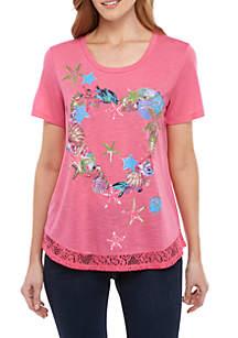 Kim Rogers® Shell Heart T Shirt