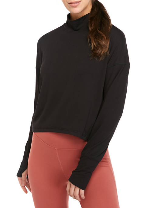 ZELOS Cropped High Low Top