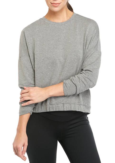 Long Sleeve Cinched Hem T-Shirt