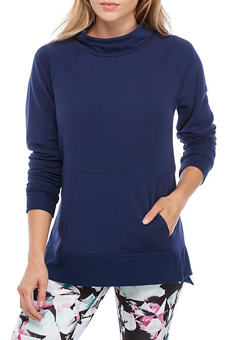 Womens Fleece Mock Neck Pullover
