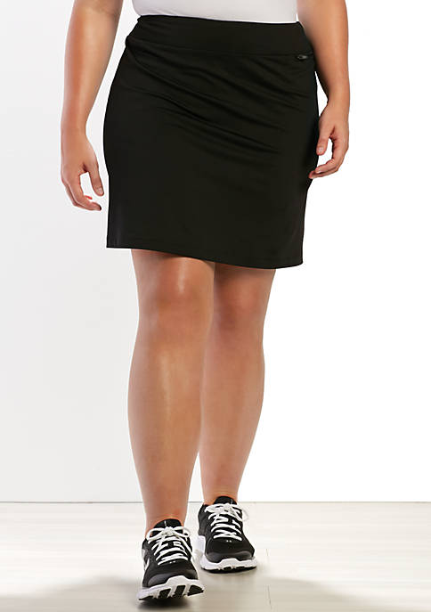 be inspired® Plus Size Basic Solid Skort
