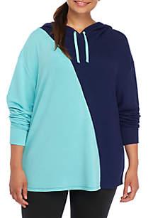 Plus Size Diagonal Sweatshirt