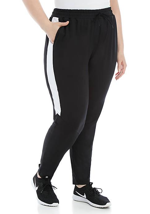 Plus Size Color Block Track Pants