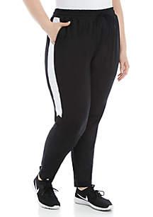 ZELOS Plus Size Color Block Track Pants