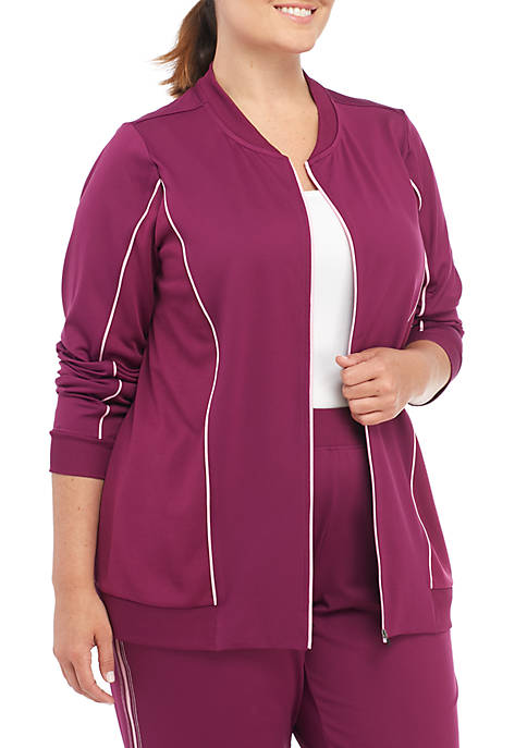 ZELOS Plus Size Knit Jacket
