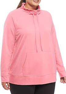 Plus Size Funnel Neck Sweatshirt