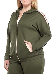 Plus Size Fashion Track Jacket
