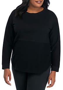ZELOS Plus Size Solid Sweatshirt