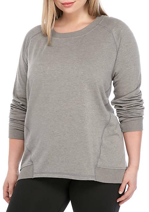 Plus Size Raglan Sleeve Sweatshirt