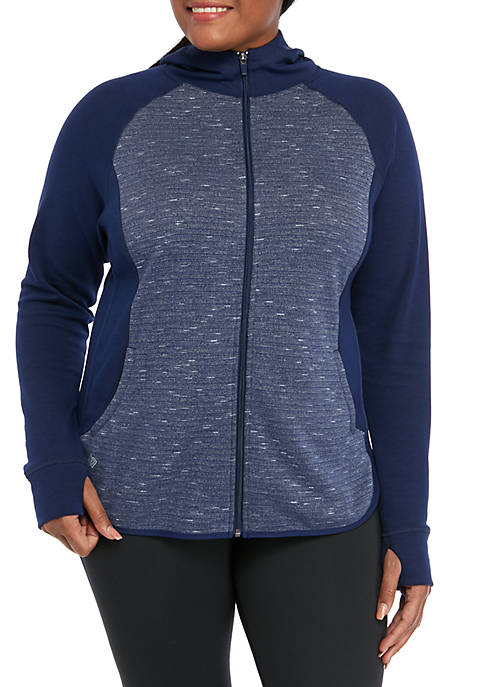 Plus Size Fleece Full Zip Pullover