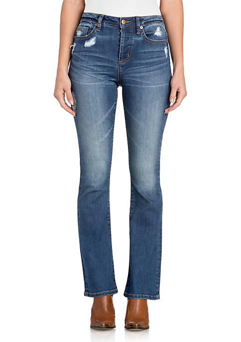 High Rise Bootcut Clean Jeans