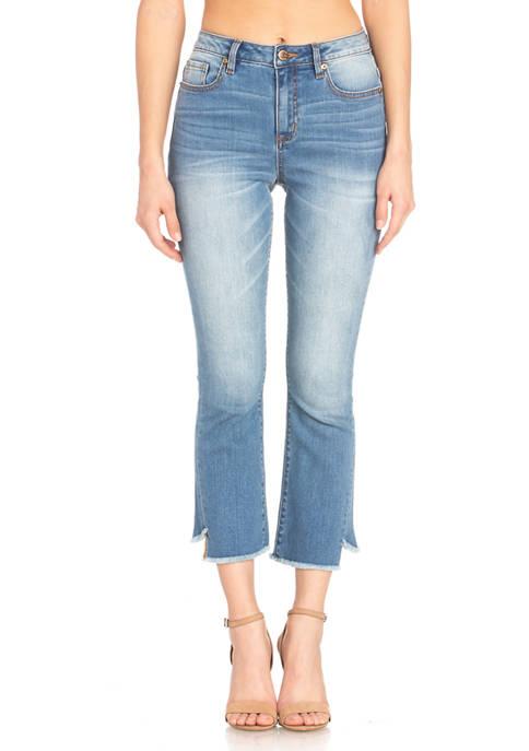 Asymmetric Hem Crop Jeans