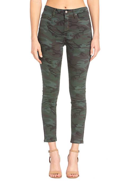 Womens Skinny Fit Camo Jeans