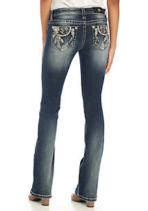 Dream Catcher Embroidered Bootcut Jeans