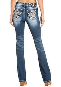 Fleur De Lis Bootcut Jeans