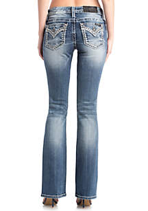 Light-Rinse Bootcut Jeans
