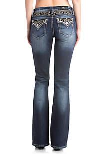 Medium Wash Bootcut Embellished Jeans