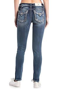 Medium Wash Snowflake Skinny Jeans