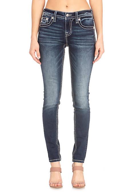 Dark Wash Skinny Cross Jeans