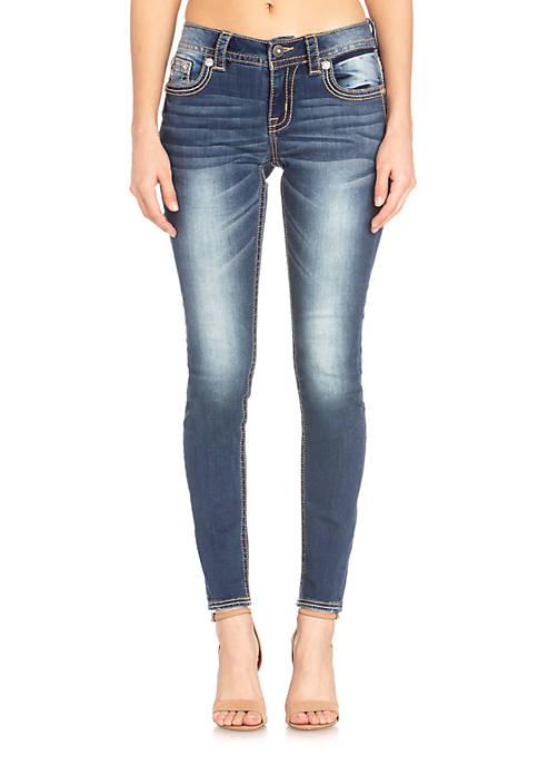 Hailey Skinny Flap Pocket Jeans