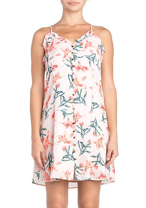 Miss Me Sleeveless Floral Dress