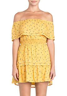 Miss Me Printed Off The Shoulder Dress