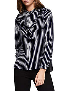 Long Sleeve Striped Cotton Top