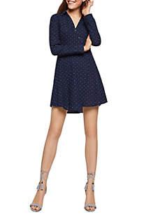 972a9832720a BCBGMAXAZRIA Cropped Beaded Halter Jumpsuit · BCBGeneration Long Sleeve Dot Shirt  Dress