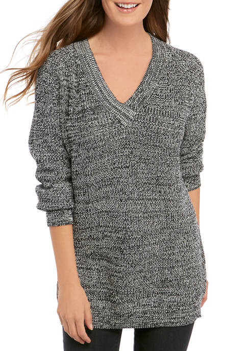 BCBGeneration Womens V Neck Pullover Sweater