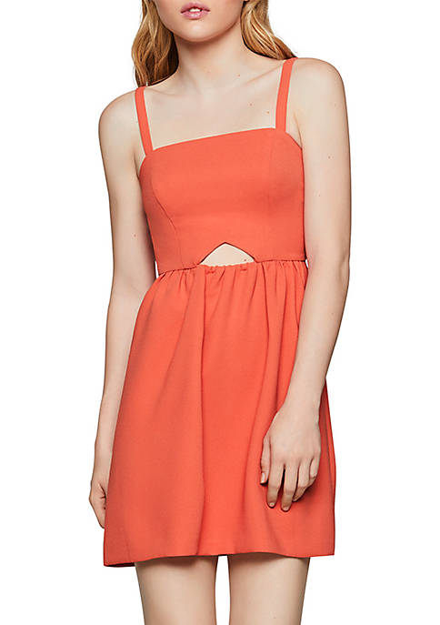 BCBGeneration Sleeveless Cutout Flutter Dress