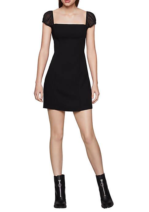 BCBGeneration Womens Cap Sleeve Mini Dress