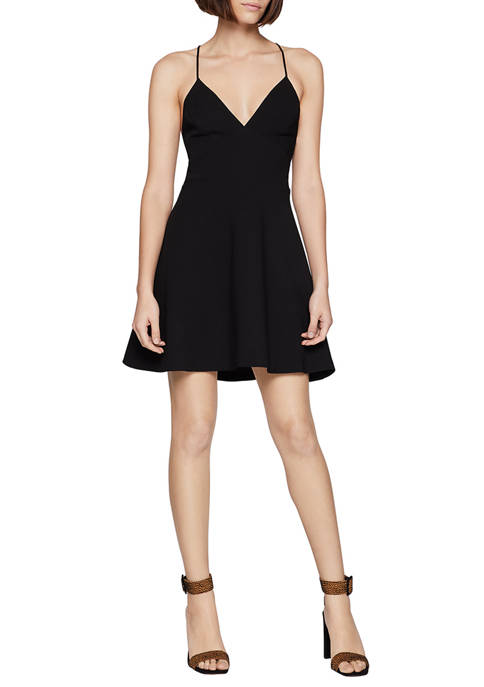 BCBGeneration Womens Plunging Skater Dress