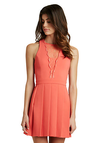 3fd6c62529 ... BCBGeneration Racerback Fit-and-Flare Dress