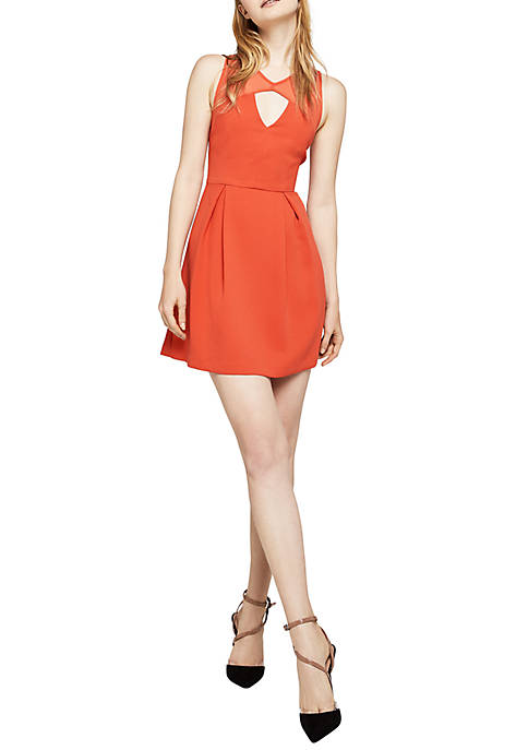 BCBGeneration Peek-a-boo Fit-And-Flare Dress