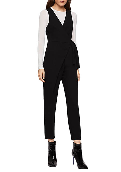 BCBGeneration Sleeveless Wrap Jumpsuit