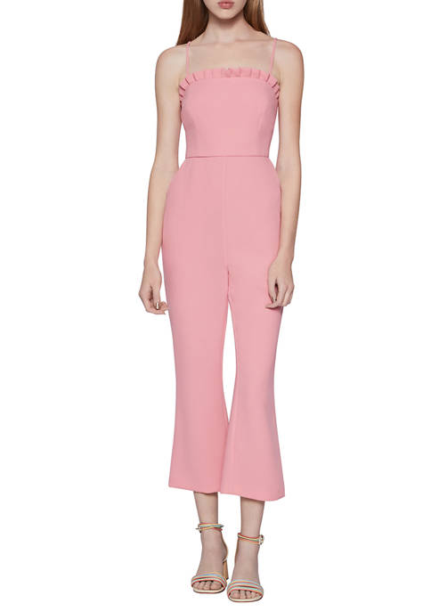 BCBGeneration Womens Cropped Flared Jumpsuit