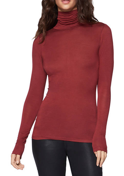 BCBGeneration Long-Sleeve Turtleneck Layering Top