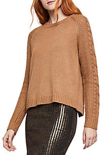 BCBGeneration Cable Sleeve Sweater