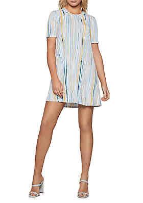 501f4756c25 BCBGeneration Short Sleeve Striped Tee Dress ...