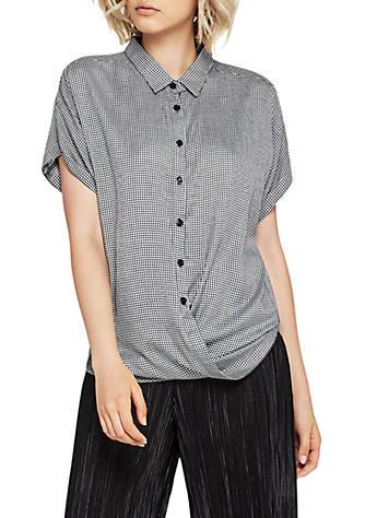 8281a2622c97 BCBGeneration Wrap Hem Dolman Sleeve Shirt